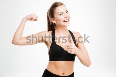 ストックフォト: 幸せ · スポーティー · 女性 · にログイン