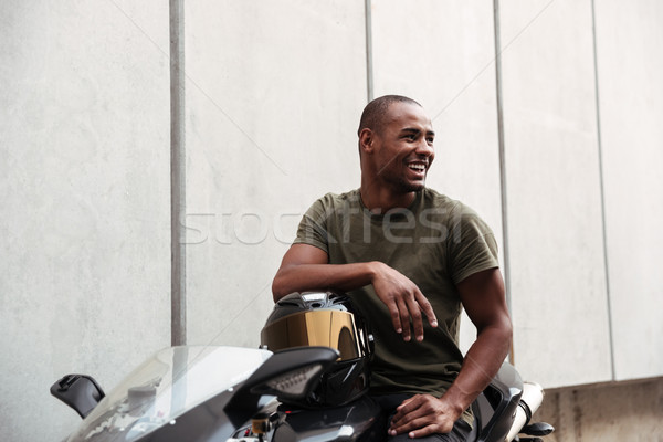 Portrait of a afro american man Stock photo © deandrobot