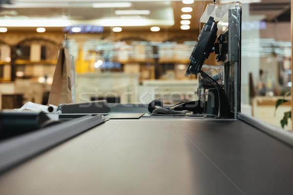 пусто кассир работу место супермаркета торговых Сток-фото © deandrobot