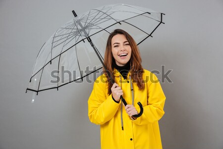 Portrait of a mad crazy girl Stock photo © deandrobot