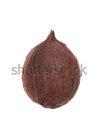 кокосового фрукты белый изолированный природы фон Сток-фото © deandrobot