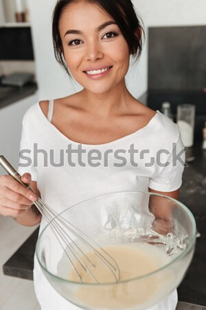 улыбаясь Постоянный кухне домой изображение Сток-фото © deandrobot