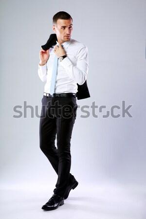 Portrait pensive homme d'affaires veste Photo stock © deandrobot