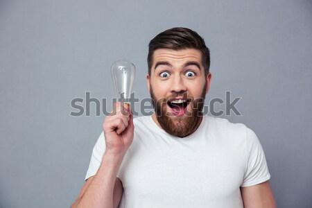 Jóvenes espanol fútbol ventilador ganar sonrisa Foto stock © deandrobot