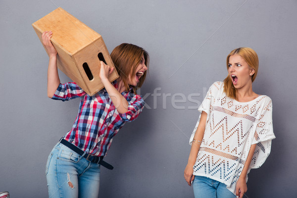 Two women quarrel Stock photo © deandrobot