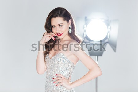 Woman not willing to be photographed Stock photo © deandrobot