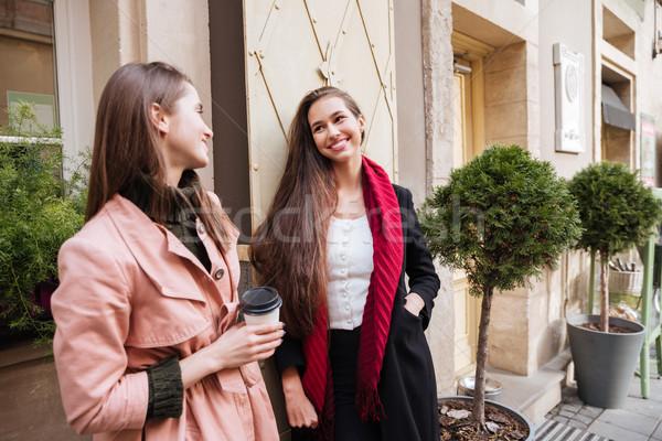 Güzel şehir moda model saç Stok fotoğraf © deandrobot