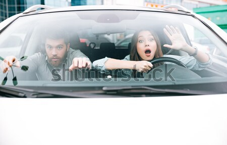 Picture of couple in crash Stock photo © deandrobot