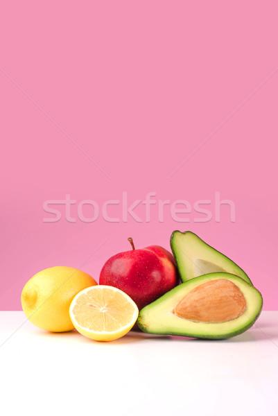 Establecer frescos jugoso limón manzana aguacate Foto stock © deandrobot