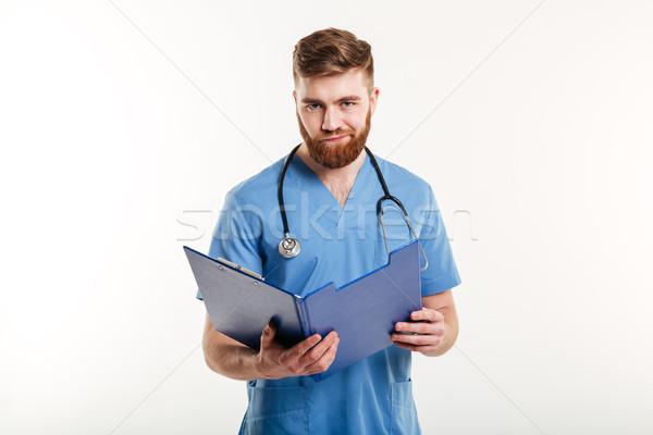 Sconvolto deluso medici medico infermiera stetoscopio Foto d'archivio © deandrobot