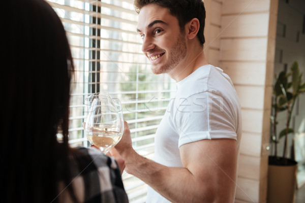 Shot of man with champagne Stock photo © deandrobot