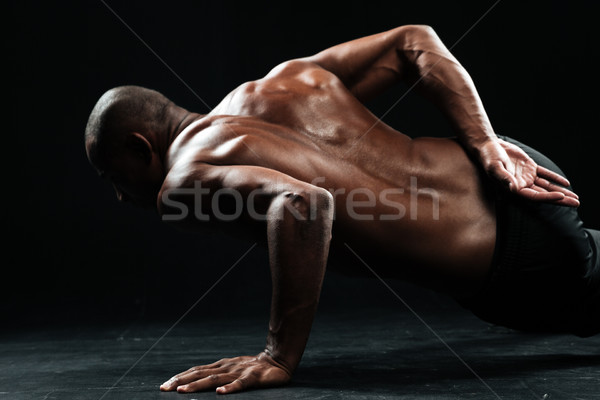 Photo afro Homme athlète Photo stock © deandrobot