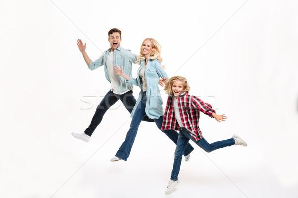 肖像 幸せ 楽しい 家族 子 ストックフォト © deandrobot