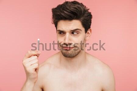 портрет гол счастливым человека Сток-фото © deandrobot