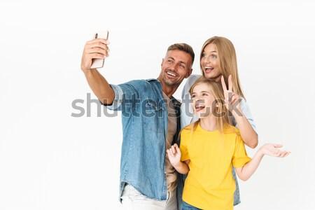 Foto stock: Alegre · asiático · casal · gesto