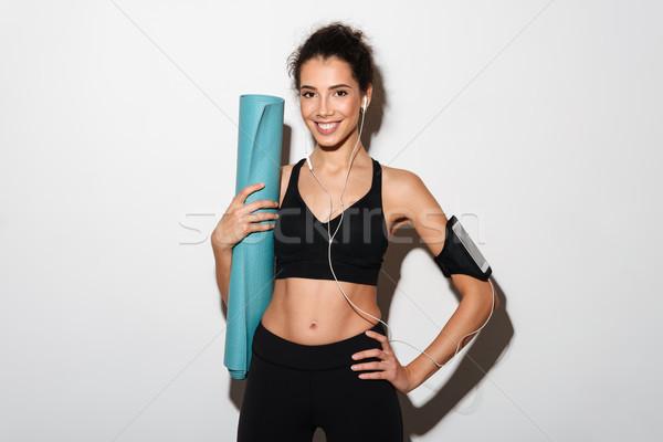 Сток-фото: улыбаясь · брюнетка · спортивных · женщину