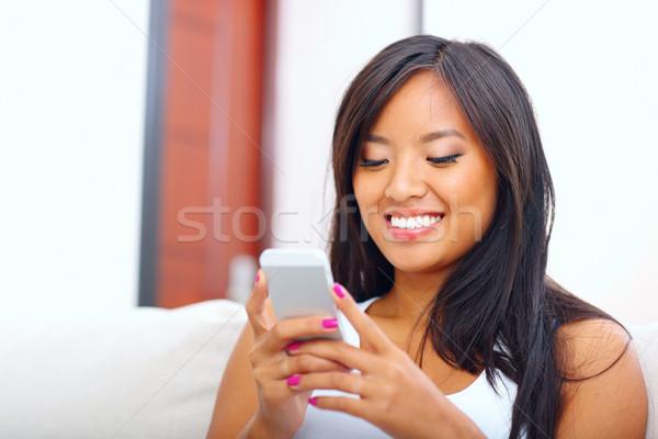 Güzel genç Asya kadın Stok fotoğraf © deandrobot