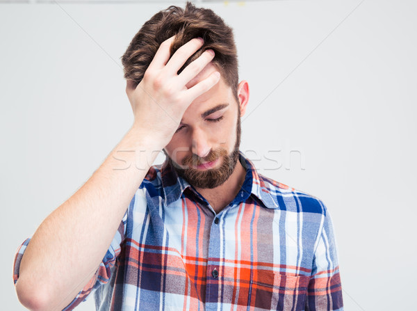 Portrait of frustrated man Stock photo © deandrobot