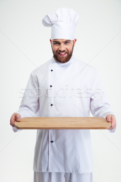 Mężczyzna kucharz gotować deska do krojenia Zdjęcia stock © deandrobot