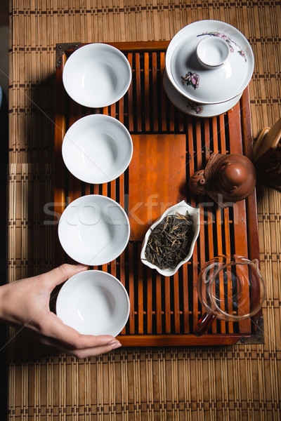 Tea ceremony Stock photo © deandrobot
