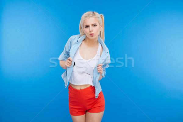 Attractive stylish woman Stock photo © deandrobot