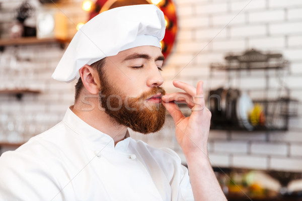 счастливым повар Кука аромат продовольствие кухне Сток-фото © deandrobot