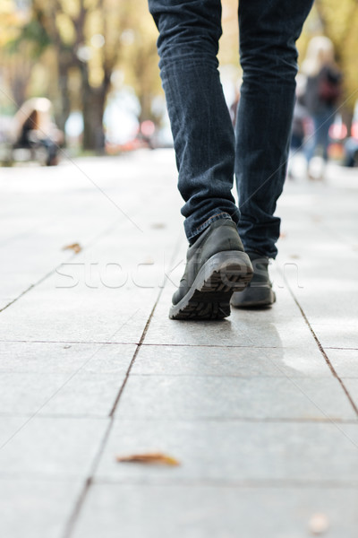 写真 小さな 徒歩 男 通り アフリカ ストックフォト © deandrobot