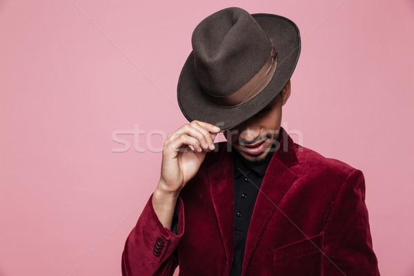 портрет афро американский человека Hat Сток-фото © deandrobot