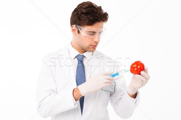 Portrait élégant jeunes médecin de sexe masculin Homme Photo stock © deandrobot