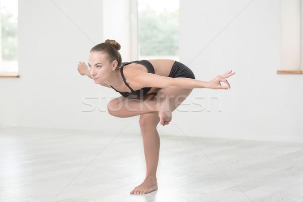Mujer yoga gimnasio retrato Foto stock © deandrobot