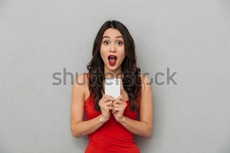 Nő kötelek fenyegetett bűnöző férfi kés Stock fotó © deandrobot