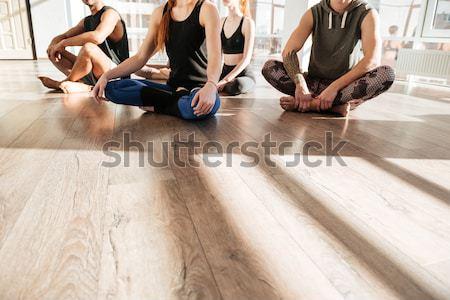 Persone gruppo yoga donna sport salute Foto d'archivio © deandrobot