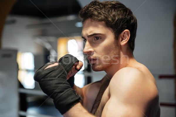 Gericht bokser opleiding gymnasium jonge Stockfoto © deandrobot