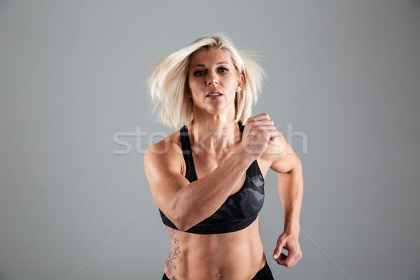 Portre motive yetişkin kadın atlet çalışma Stok fotoğraf © deandrobot