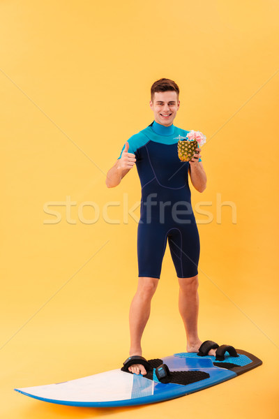 изображение счастливым Surfer доска для серфинга Сток-фото © deandrobot