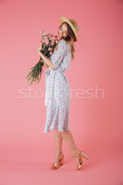 Stock photo: Full length portrait of a lovely young woman
