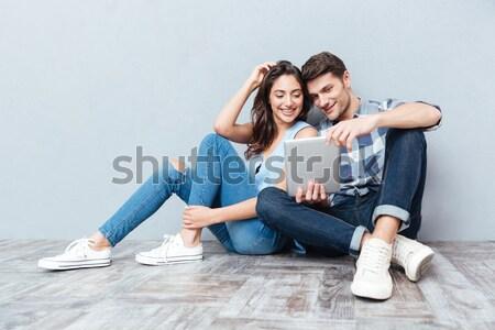 Fotoğraf içerik iki arkadaşlar adam kadın Stok fotoğraf © deandrobot