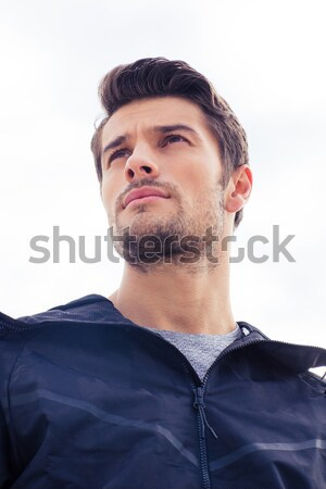 портрет красивый молодым человеком Постоянный изолированный белый Сток-фото © deandrobot