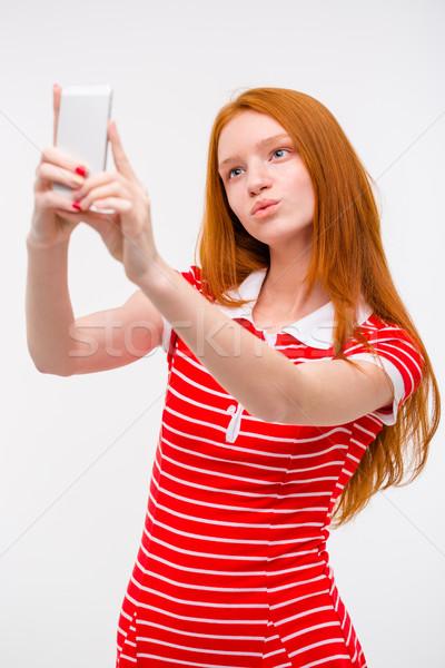 Jóvenes hermosa mujer toma Foto stock © deandrobot