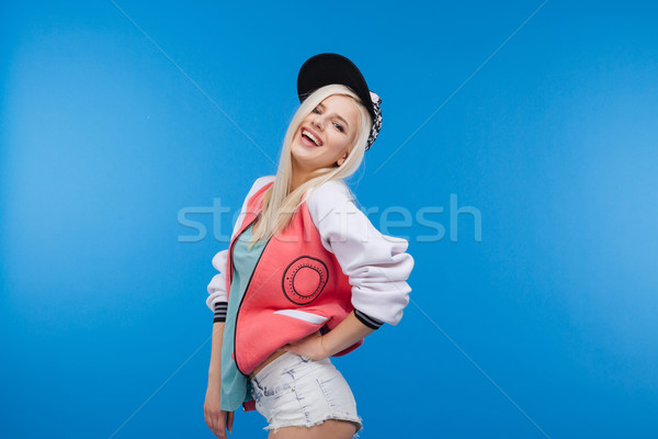 Laughing young woman Stock photo © deandrobot