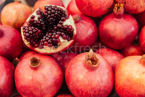 Pile of a pomegranate Stock photo © deandrobot