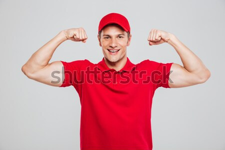 Courier shrugs Stock photo © deandrobot