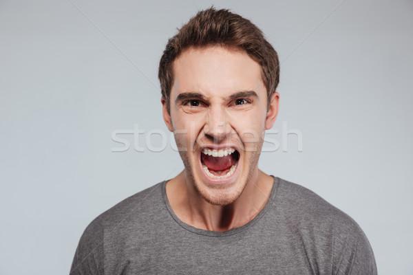 Сток-фото: портрет · случайный · человека · кричали · камеры