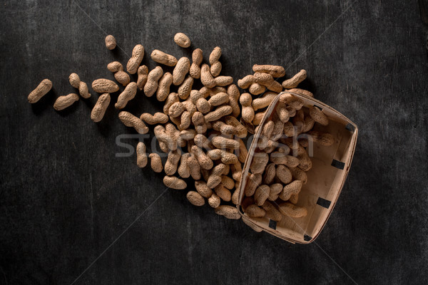 Dried peanuts Stock photo © deandrobot