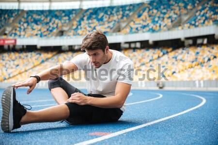 Jóvenes deportes hombre estadio Foto stock © deandrobot