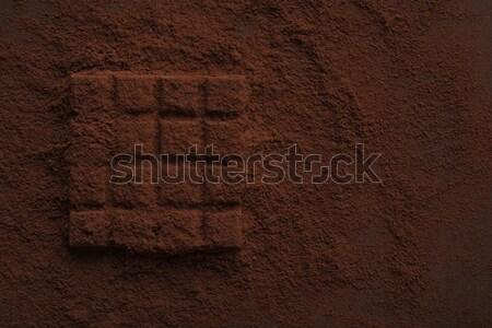 Foto stock: Chocolate · coberto · escuro · pó