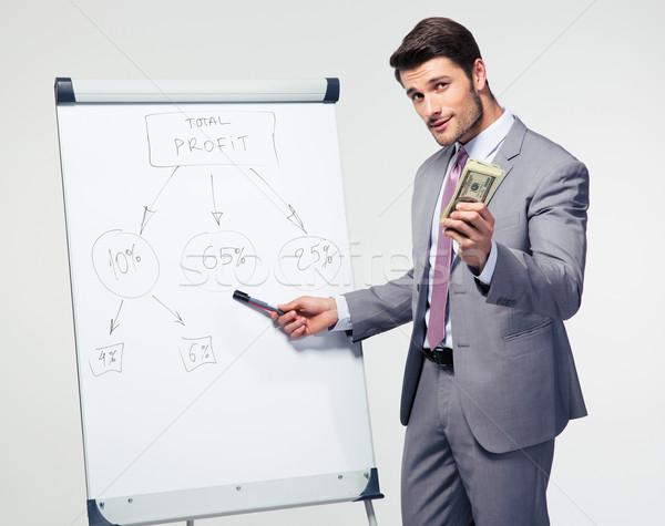 ビジネスマン プレゼンテーション メモ帳 ストックフォト © deandrobot