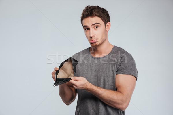 Portre mutsuz üzücü adam boş Stok fotoğraf © deandrobot