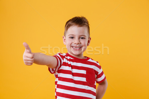 Portrait of a smiling little boy showing thumbs up Stock photo © deandrobot