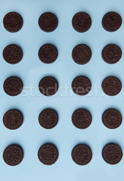 Photo of a lot of chocolate sweeties cookies Stock photo © deandrobot